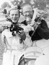 Billy Cotton & Wilkie Wilkinson (of Ecurie Ecosse fame) After a win in their ERA at Brooklands